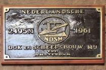 Plaquette van de oprichting NDSM
