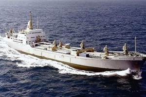 """Het vrachtschip de """"Bandeirante"""""""