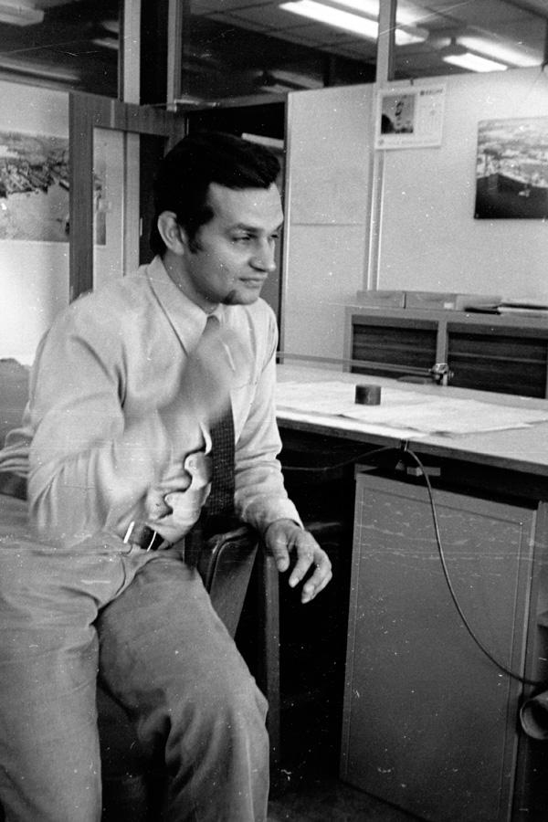 Leo op de werf in 1972