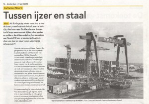 Krant Amsterdam 21 april 2016