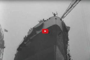 Tewaterlating van de tanker Vasum (1955)